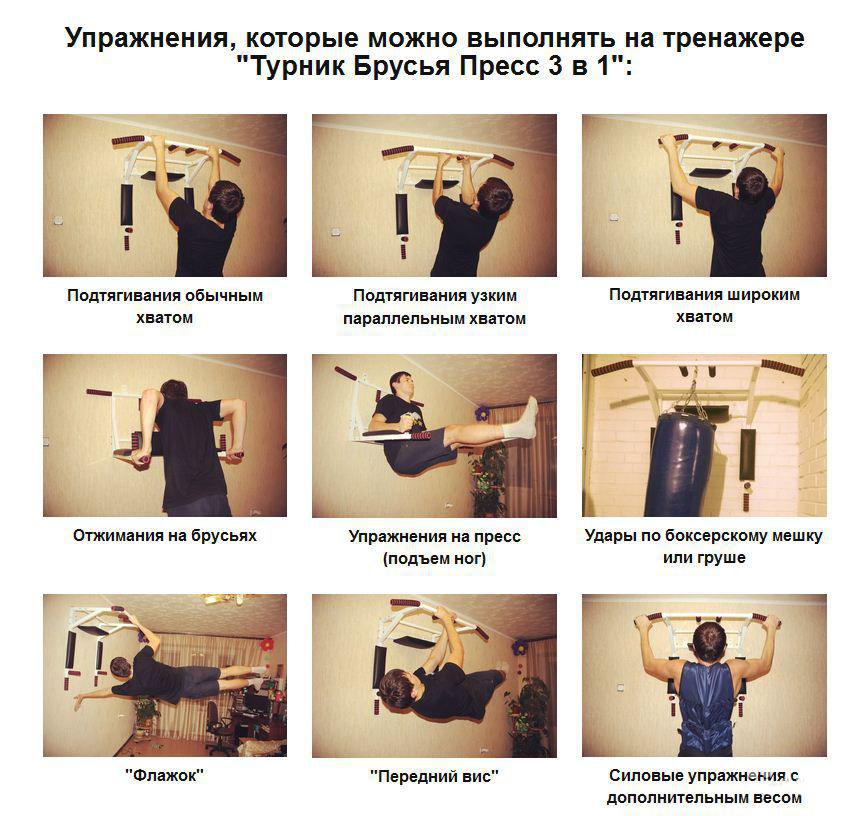 Упражнения для подтягивания в домашних условиях